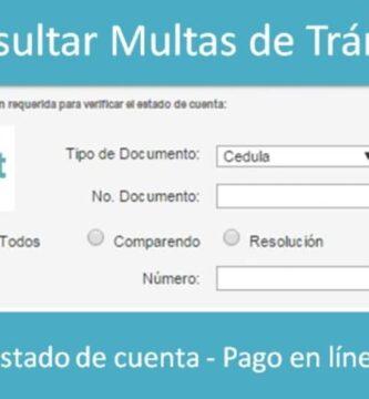 consulta de multas de transito
