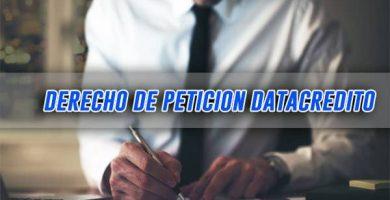 modelo derecho de peticion datacredito