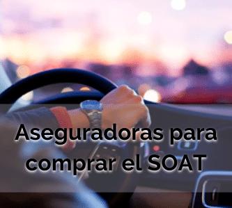 Aseguradoras para comprar el SOAT