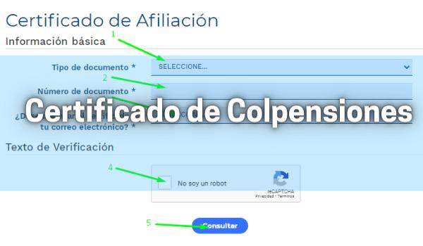 Certificado de Colpensiones