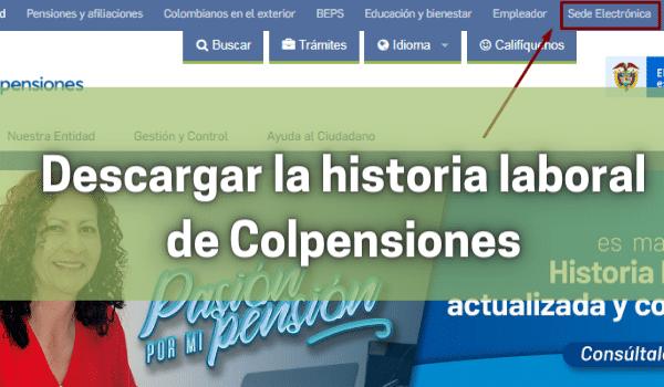 descargar la historia laboral de Colpensiones