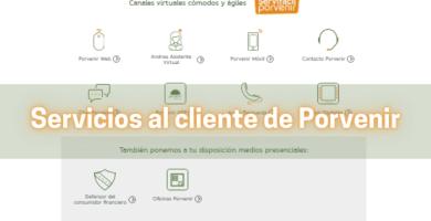 Datos de Servicios al Cliente de Porvenir 2021