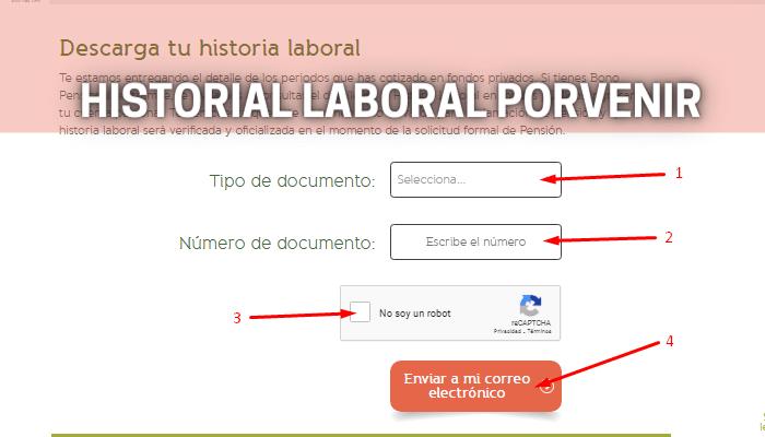historial laboral de Porvenir