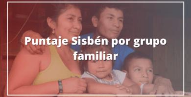 Consulta puntaje Sisbén por grupo familiar