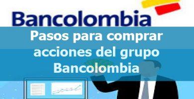 Pasos para comprar acciones del grupo Bancolombia