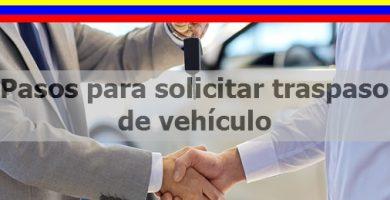 pasos para solicitar traspaso de vehiculo