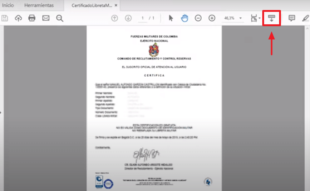 C:\Users\Garri\Desktop\Pasos para descargar el certificado de la libreta militar paso 8.png