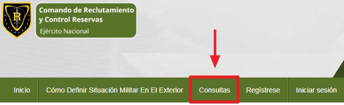 C:\Users\Garri\Desktop\Pasos para descargar el certificado de la libreta militar paso 1.png