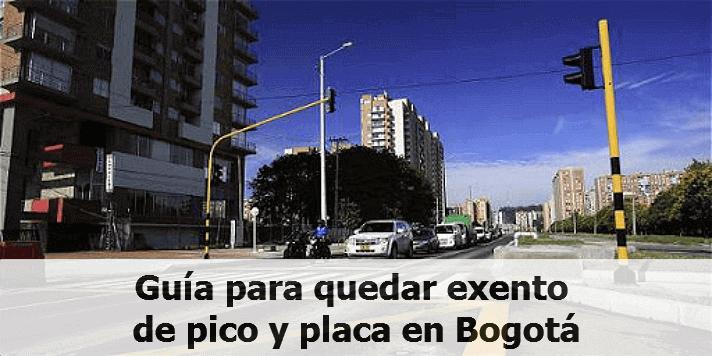 Guía para quedar exento de pico y placa en Bogotá
