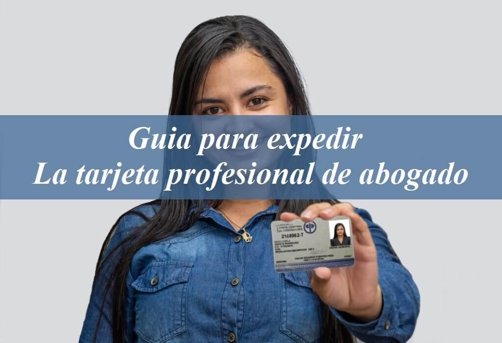 tarjeta profesional abogado